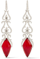 Stephen Webster La Belle Epoque 18-karat White Gold Multi-stone Earrings