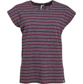 Animal Womens Decked Stripe T-Shirt Pomegranate Red