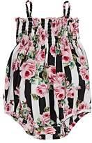 Dolce & Gabbana Infants' Rose-Print Cotton Poplin Bodysuit