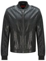 HUGO BOSS Lessko Lambskin Leather Jacket M Black