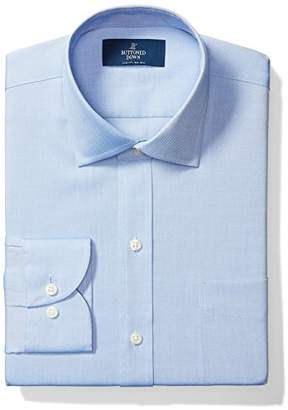 Buttoned Down Men's Slim Fit Spread Collar Solid Non-Iron Dress Shirt (Pocket)