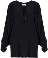 Chloé Tie-neck silk blouse