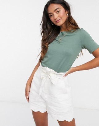 Vero Moda top with slashed neck in green