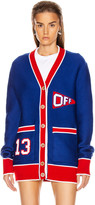Off-White Off White Flag Cardigan in Blue & Red   FWRD