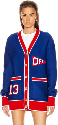 Off-White Flag Cardigan in Blue & Red | FWRD