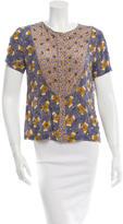 Suno Silk Embellished Top