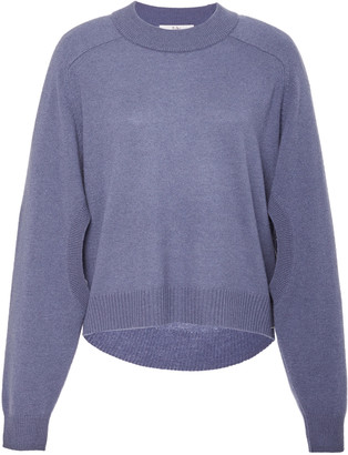 Tibi Spring Cashmere Sweater Open Sleeve Cocoon Cropped Pullover