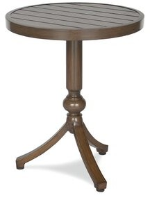 Occasional Aluminum Side Table Inspired Visions Color: Teak