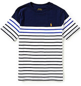 Ralph Lauren Big Boys 8-20 Bold-Stripe Short-Sleeve Jersey Tee