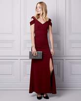 Le Château Knit Crepe Cold Shoulder Gown