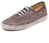 Marc Jacobs Canvas Lenny Leopard Sneaker