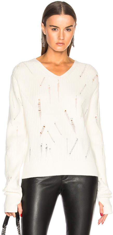 Helmut Lang Drop Needle V Neck Sweater