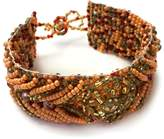 tu-anh boutique Hand-Beaded Orange Bracelet