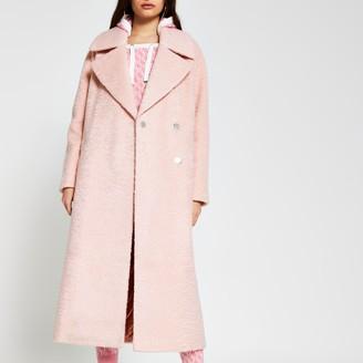 River Island Womens Pink oversized longline coat