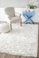 nuLoom Handmade Soft and Plush Silken Solid Shag Area Rug