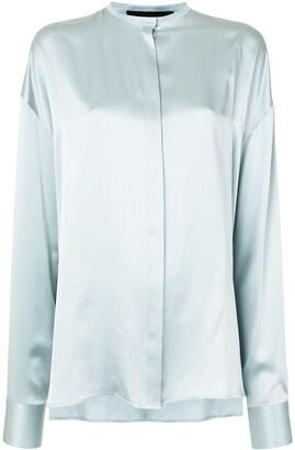 Haider Ackermann Oversized Mandarin Collar Shirt