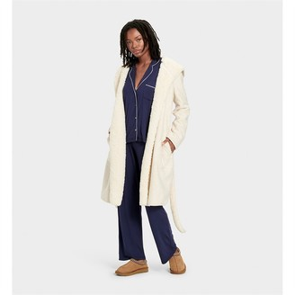 UGG Portola Reversible Robe Heather Cream L