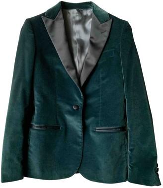 Tonello Green Velvet Jacket for Women