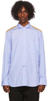 Junya Watanabe Blue Striped Camouflage Shirt