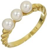 Mikimoto Pearl 18K Yellow Gold Band Ring Size 5.5
