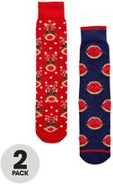totes 2 Pack Original Slipper Socks