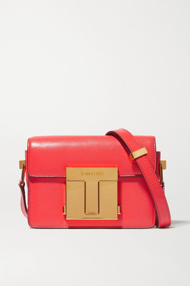 Tom Ford 001 Small Leather Shoulder Bag - Red
