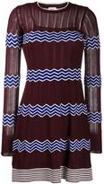 M Missoni Knitted Zig Zag Pattern Dress