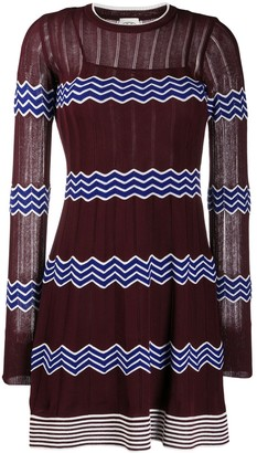 M Missoni Knitted Zig Zag Pattern Dress