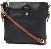 Kathy Ireland Black Contrast-Strap Crossbody Bag