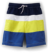 Classic Little Boys Slim Colorblock Swim Trunks-Soft Lupine