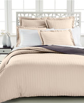 Charter Club Closeout! Damask Stripe King Duvet Cover, 500 Thread Count 100% Pima Cotton, Created for Macy's Bedding