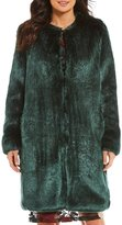 Calvin Klein Solid Faux Fur Coat