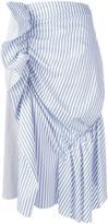 J.W.Anderson gathered striped skirt - women - Cotton/Polyamide/Spandex/Elastane - 4