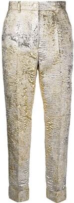 Dolce & Gabbana jacquard-knit cropped trousers