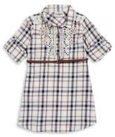 Rare Editions Girl's Plaid Cotton Shirt Dress
