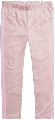 Imoga Girl's Two-Tone Stretchy Faux Suede Pants, Size 7-14