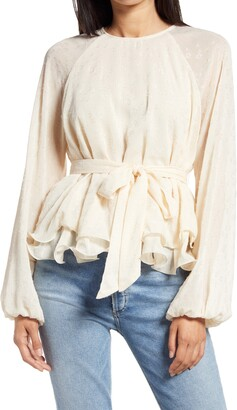 Endless Rose Tiered Hem Belted Blouse
