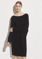 Wool Cashmere Dolman Sleeve Dress