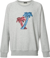 Marc Jacobs sequin embroidered palm tree sweatshirt - men - Cotton/Polyester - XS
