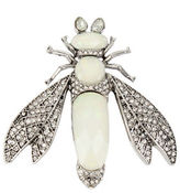 Betsey Johnson Pave Crystals, Opal Stones Fly Pin