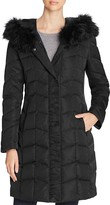 T Tahari Addison Faux Fur-Trim Puffer Coat