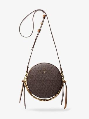 MICHAEL Michael Kors Delancey Medium Two-Tone Logo and Leather Canteen Crossbody Bag