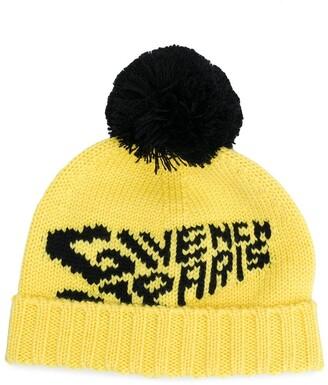 Givenchy Kids Logo Knit Wool Beanie