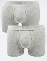 Calvin Klein 2 Pack Grey Trunks