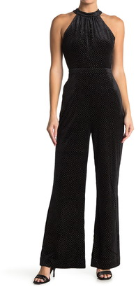 Lost + Wander Lady Galaxy Dotted Velvet Jumpsuit