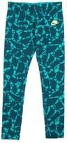 Nike Big Girls' (7-16) Allover Print Training Leggings-Green-XL