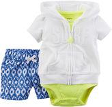 Carter's 3-pc. Cardigan, Bodysuit and Shorts Set - Baby Girls newborn-24m