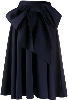 Charles Jeffrey Loverboy Bow Detail Flared Skirt
