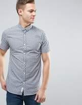Jack and Jones Core Slim Fit Short Sleeve Shirt in Gingham