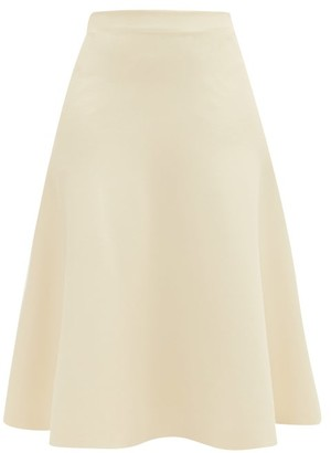 Jil Sander Fluid A-line Knitted Midi Skirt - Ivory